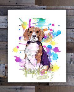 Beagle Art Print Beagle Art Beagle Decor 8x10 by KariSmithDesigns