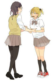 Shimizu Kiyoko & Yachi Hitoka - Haikyuu!! / HQ!!