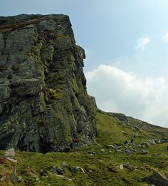 Granny's Rock high on the cliffs, Isle of Islay