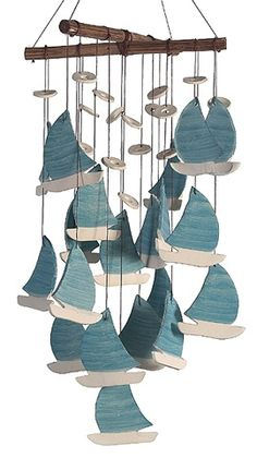 nautical windchime | Found on cellinifinegifts.com