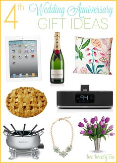 4th Anniversary Gift Ideas {Fruit and Flower Gift Ideas} - Two Twenty One ALSO has ideas for 1st, 2nd, & 3rd anniversaries.