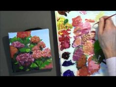 Bright, Cheerful, Colorful Acrylic Flower Painting Demo - \
