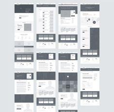MCC Arts Website Wireframes by Adam Butler Wireframe Web, Wireframe Design, Graphisches Design, Web Ui Design, Responsive Web Design, Interface Design, Website Wireframe, Modern Web Design, Design Model