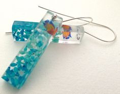 Hand crafted resin and sterling silver earrings 'Go by LisaJTaylor, $39.00