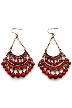 Stylish Multi-Layered Faux Gem Earrings