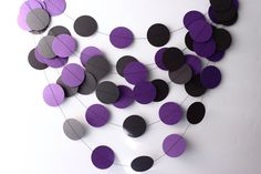 Halloween Garland Black & Purple Paper Garland by MailboxHappiness, $10.00