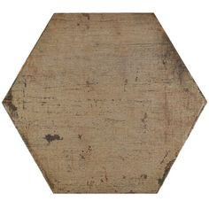 If you are looking for a distressed wood look, this tile is just right for you. With mixed brown tones, this hexagon will match almost any room design. Use this tile indoors or outdoors because it is impervious and frost resistant.