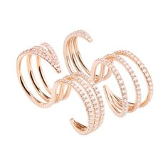 #MelissaKayeJewelry Cris #ring in #18k pink #gold with #diamonds #jewelry #finejewelry #pinkgold #fashion #style