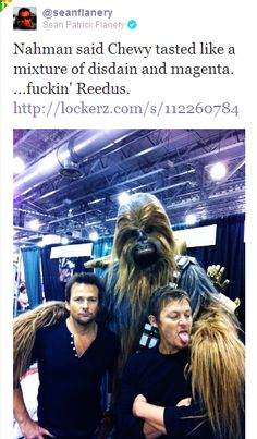 Sean Patrick Flanery, Norman Reedus and Chewy!