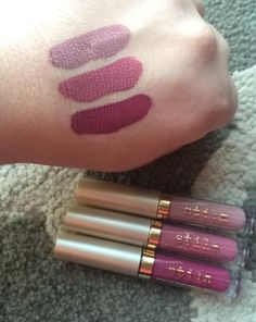 Stila Liquid Lipsticks Baci, Patina, Aria @stilacosmetics photo @brittanylynnc7