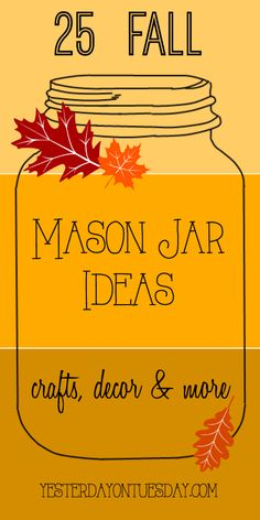 25 Fall Mason Jar Id