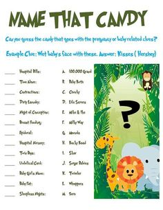 Jungle Animal Baby Shower Game 2 Pack Special by AllThingsParty, $5.00