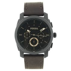 Fossil Men's FS4656 Leather Crocodile Analog with Brown Dial Watch Fossil. $114.28. Case diameter: 42. Stainless steel case. Scratch resistant mineral. Analog quartz movement. Water-resistant to 50 Meters(165 feet). Save 15% Off!