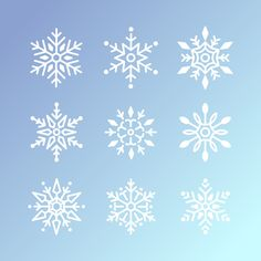 Set of snowflakes christmas design vector Free Vector Snowflake Images, Christmas Tree Cards, Christmas Christmas, Christmas Crafts, Vector Photo, Christmas Design, Free Illustrations, Beautiful Christmas, Journal Cards