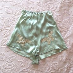 Vintage 1920 s 1930 s Art Deco Silk Tap Pants With Embroidered Butterflies   f4d0cfe5b