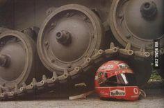 Tank vs F1 helmet