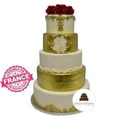 Wedding cake, pièce montée mariage Gâteau de mariage Victoria Wedding, Macaron, Saveur, Baroque, Wedding Cakes, Creations, Desserts, Food, Red Roses
