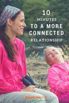 Strengthen your bond with these 10 minute connection activities for kids of every age - great ideas!