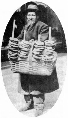 Posted on February 2017 When I read that today was National Pizza Day AND National Bagel Day, I remembered that my husband re. Old Pictures, Old Photos, Vintage Photos, Vintage London, Old London, February Holidays, February 9, Fiddler On The Roof, Jewish History