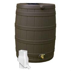50 Gallon Rain Barrel in UV Resistant Resin with Diverter Kit