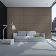 Washed Grey UrbanConcrete - Interior 3D Wall Panel | 2storee