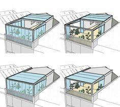 Verglaste Dachterrasse wird zum Wintergarten