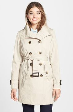 London Fog Double Breasted Trench Coat with Detachable Liner (Online Only) available at #Nordstrom