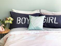 BOY & GIRL Pillowcase Set