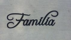 Familia Word Spanish word for Family Black Metal Wall Art Home Decor by JNJ Metalworks, http://www.amazon.com/dp/B005U4O9SA/ref=cm_sw_r_pi_dp_ERN5qb0C5Y86F