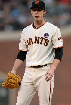 Tim Lincecum - Boston Red Sox v San Francisco Giants - The patch on their jersey needs no words <3