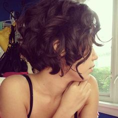 Short Curly Hairstyle.