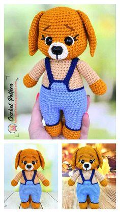 Crochet Amigurumi Free Patterns, Crochet Animal Patterns, Stuffed Animal Patterns, Free Crochet, Crochet Animal Amigurumi, Crochet Dolls, Crochet Projects, Crochet Teddy Bears, Felt Animals