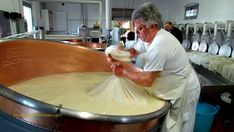 How to make cheese the traditional way - step by step inside an Italian dairy