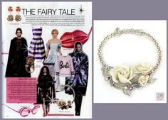 Look like a fairy tale princess with Dori's delicate bridal necklace ~ as seen in Go Style Magazine #bridal #fairytale #DoriCsengeri #fall2014 #bridalnecklace #floralnecklace