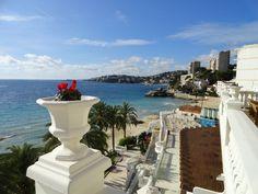 A room with a view. Nixe Palace Hotel, Palma de Mallorca, Spain.