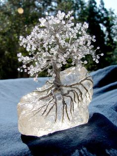 The White Witches crystal tree. -- A very lovely reminder of how much I enjoy doing these.