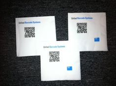 Custom Printed Napkins with company's own QR Code