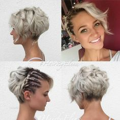 Short Bridal Bob Hairstyle With Braids