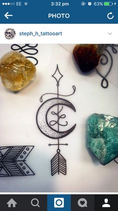 Love this moon, maybe with the Celtic sign for new beginnings