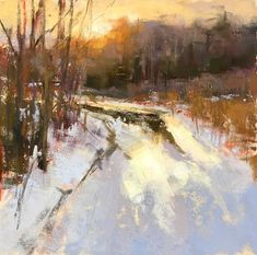 Pleased to announce this little guy, pastel on uart, was accepted into the 2019 IAPS Master Circle show held in Albuquerque in June. Pastel Landscape, Landscape Artwork, Winter Landscape, Abstract Landscape, Painting Snow, Winter Painting, Pastel Artwork, Pastel Paintings, Mary Cassatt