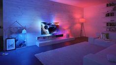 Philips setzt bei seinen Fernsehern stark auf das Thema Umgebungslicht. Ambilight nennt der Hersteller die dem TV-Bild angepassten Lichtspiele. Jetzt wird mit den LED-Leuchten HUE der gesamte Raum ins Konzept einbezogen