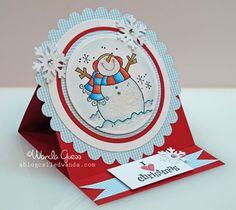 cute christmas snowman card...