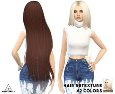 Hair retexture / Alesso Galactic / 42 colors