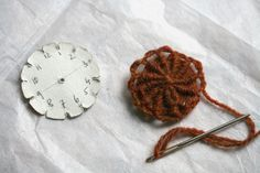 How to make yarn covered buttons
