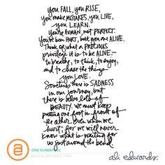 Ali Edwards | Blog: Give Sunday | 01