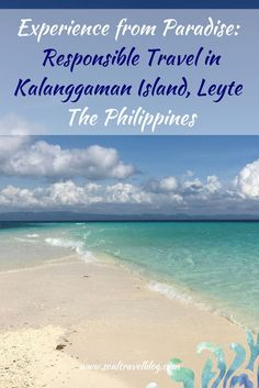 Beautiful Kalanggaman Island, Leyte, Philippines - about the island, how to get there, and how it is a great example for responsible travel! Visit Philippines, Philippines Travel, Beautiful Places To Visit, Cool Places To Visit, Asia Travel, Travel Tips, Travel Guides, Travel Destinations, Kalanggaman Island