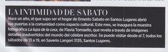 """La revista """"Bazaar"""" de Argentina recomienda la muestra """"La Lupa de la Casa"""" en la casa de Ernesto Sábato. Se puede visitar los sábados de 13 a 19 hasta el 18 de diciembre."""