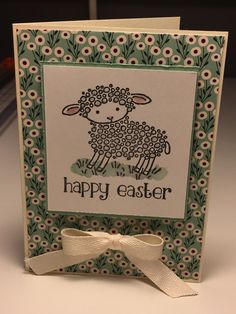Stampin Up Easter Lamb card, stampin up easter card,