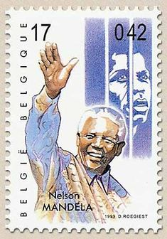 belgian stamps voyage trough the 20st century Nelson Mandela