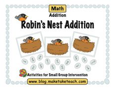 Robin's Nest Addition from Make Take Teach on TeachersNotebook.com -  (16 pages)